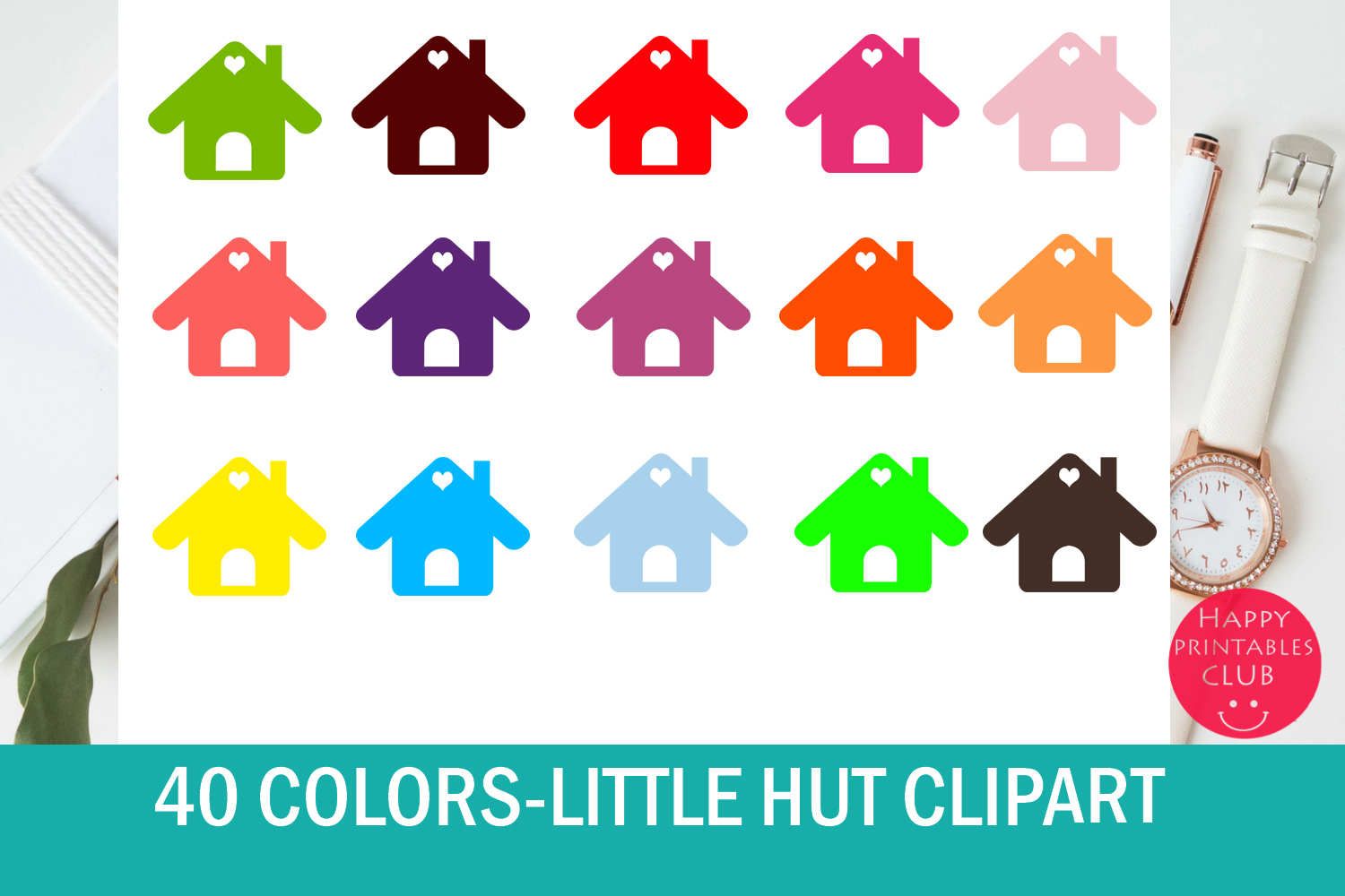 40 Cute House Clipart Graphics Graphic by Happy Printables ...