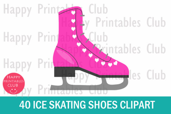 Download Free 40 Ice Skating Shoes Clipart Graphics Grafik Von Happy for Cricut Explore, Silhouette and other cutting machines.