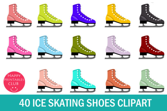 40 Ice Skating Shoes Clipart Graphics