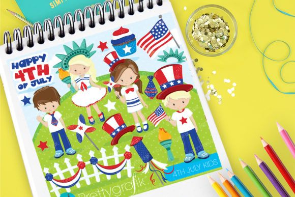 Print on Demand: 4th July Kids Graphic Illustrations By Prettygrafik
