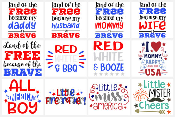 4th of July Bundle Files Svg, DXF, Png