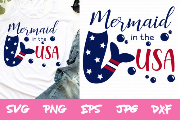 4th of July, Summer, Mermaid Svg Files Graphic Crafts By thejaemarie