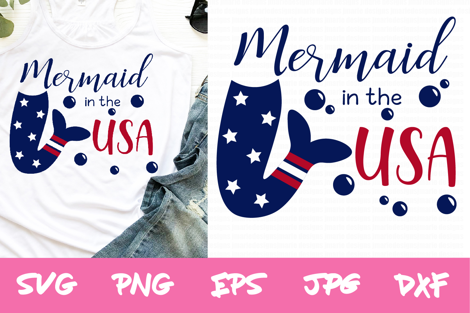 Download Free 4th Of July Summer Mermaid Svg Files Graphic By Thejaemarie for Cricut Explore, Silhouette and other cutting machines.