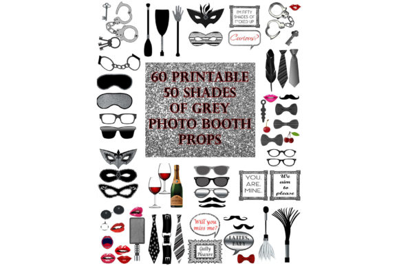 Download Free Bdsm Photo Booth Props Set Graphic By Digitalprintableme for Cricut Explore, Silhouette and other cutting machines.