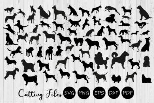Download Free 68 Dog Silhouettes Super Bundle Svg Graphic By Hd Art Workshop for Cricut Explore, Silhouette and other cutting machines.