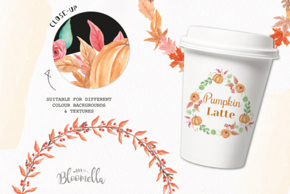 7 Wreaths Harvest Festival Pumpkin Graphic By Bloomella Image 2