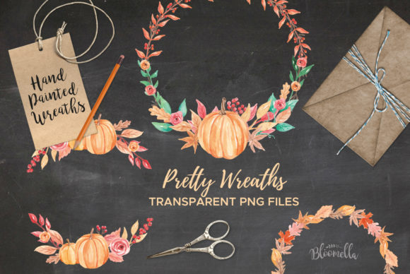 7 Wreaths Harvest Festival Pumpkin Graphic By Bloomella Image 4