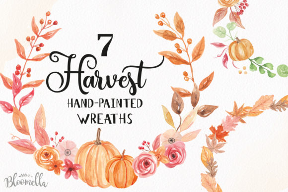 7 Wreaths Harvest Festival Pumpkin Graphic By Bloomella