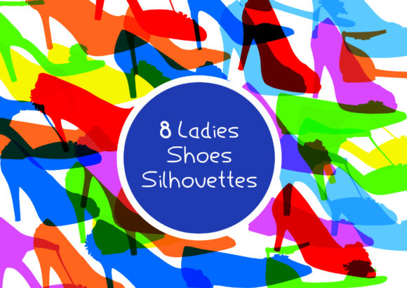 Download Free 8 Ladies Shoes Silhouette Pack Graphic By Graphicsbam Fonts for Cricut Explore, Silhouette and other cutting machines.