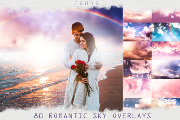 80 Romantic Sky Overlays Textures Clouds Graphic Textures By 2SUNS