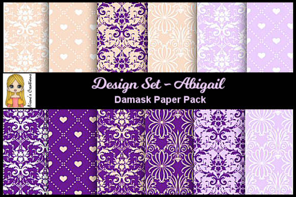 Abigail Set - Damask Paper Pack Graphic By Aisne