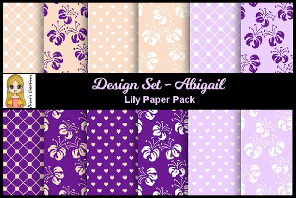 Abigail Set - Lily Paper Pack Graphic By Aisne