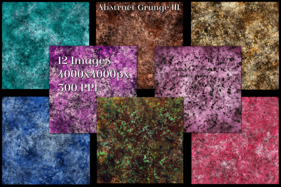 Abstract Grunge III - 12 Backgrounds Graphic By SapphireXDesigns Image 2