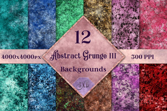 Print on Demand: Abstract Grunge III - 12 Backgrounds Graphic Backgrounds By SapphireXDesigns