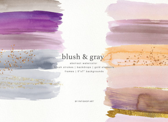 Abstract Watercolor Backdrops & Strokes Graphic Textures By Patishop Art - Image 3