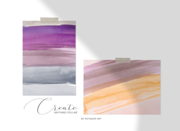 Abstract Watercolor Backdrops & Strokes Graphic Textures By Patishop Art - Image 4