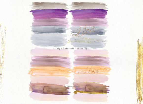 Abstract Watercolor Backdrops & Strokes Graphic Textures By Patishop Art - Image 6