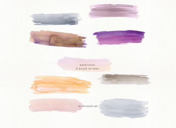Abstract Watercolor Backdrops & Strokes Graphic Textures By Patishop Art - Image 7