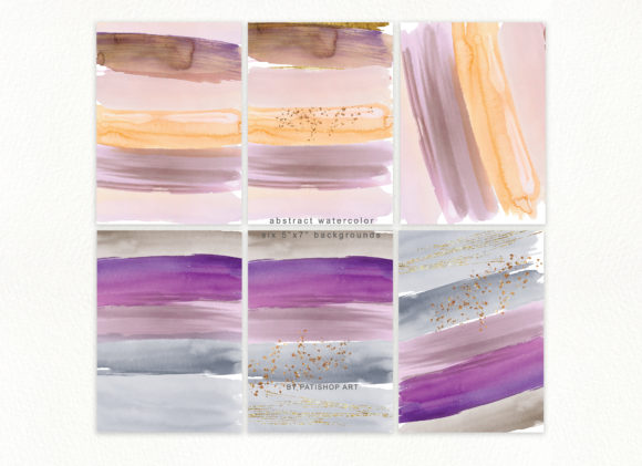 Abstract Watercolor Backdrops & Strokes Graphic Textures By Patishop Art - Image 9