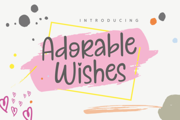 Print on Demand: Adorable Wishes Script & Handwritten Font By Adyfo (7NTypes)