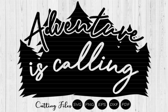 Print on Demand: Adventure is Calling Camping SVG Graphic Graphic Templates By HD Art Workshop