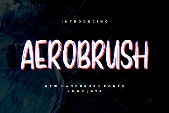 Print on Demand: Aerobrush Display Font By goodjavastudio