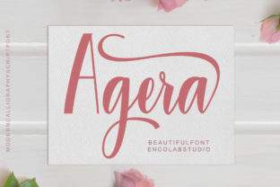Agera Font By Encolab