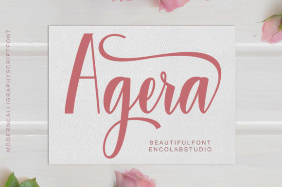 Print on Demand: Agera Script & Handwritten Font By Encolab
