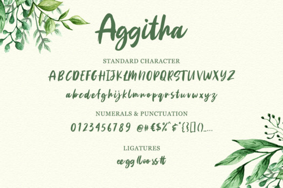 Print on Demand: Aggitha Script & Handwritten Font By Weape Design - Image 5