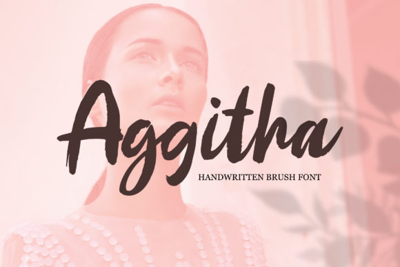 Print on Demand: Aggitha Script & Handwritten Font By Weape Design - Image 1
