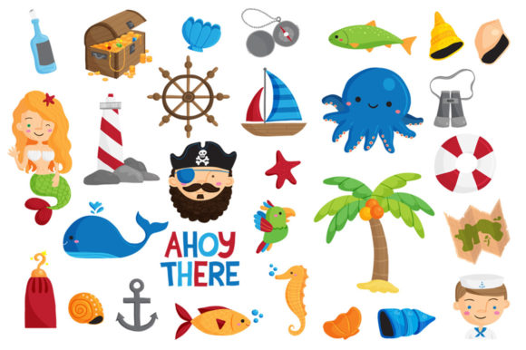 Print on Demand: Ahoy There Nautical Illustrations Graphic Illustrations By Reg Silva Art Shop - Image 2