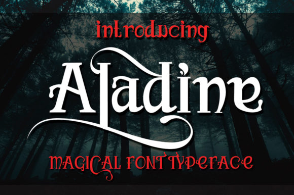 Print on Demand: Aladine Display Font By jehansyah251