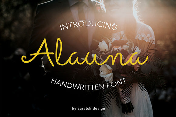 Print on Demand: Alauna Script & Handwritten Font By Scratch Design