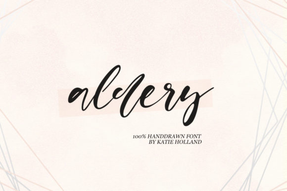 Print on Demand: Aldery Script & Handwritten Font By Katie Holland
