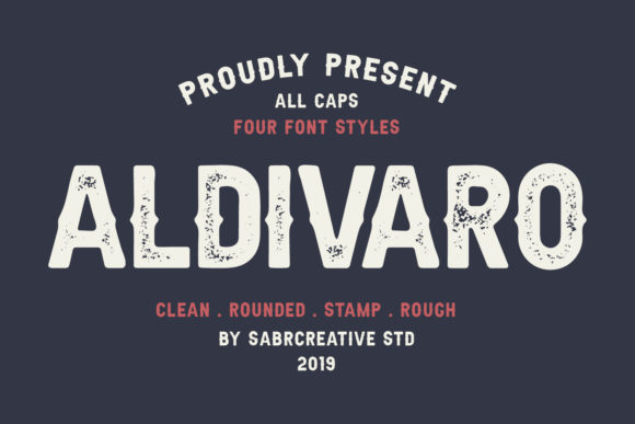 Print on Demand: Aldivaro Family Sans Serif Font By sabrcreative
