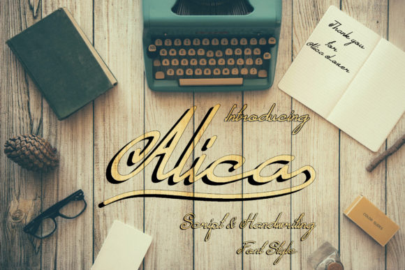 Print on Demand: Alica Script & Handwritten Font By FumaStore