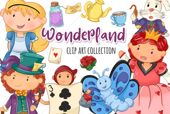 Download Free Alice In Wonderland Graphic By Keepinitkawaiidesign Creative for Cricut Explore, Silhouette and other cutting machines.
