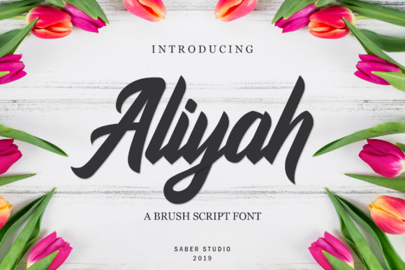 Print on Demand: Aliyah Script & Handwritten Font By Saber Studio