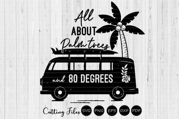 Download Free All About Palm Trees Summer Svg Graphic By Hd Art Workshop for Cricut Explore, Silhouette and other cutting machines.
