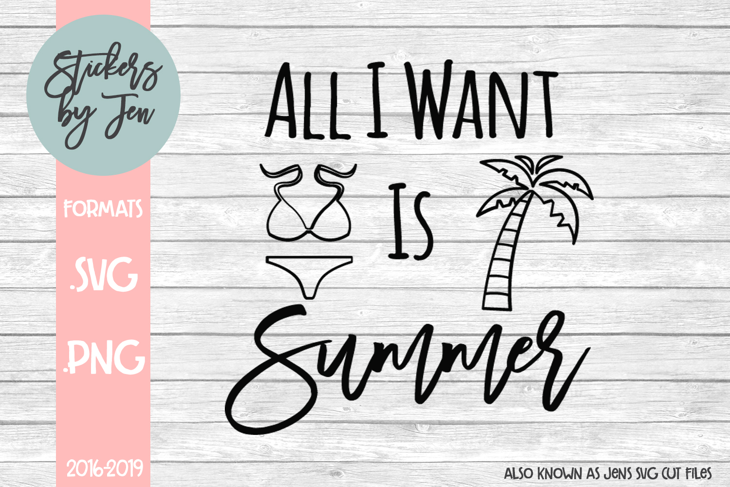 Download Free All I Want Is Summer Svg Graphic By Stickers By Jennifer for Cricut Explore, Silhouette and other cutting machines.