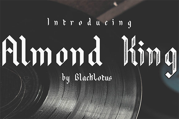Print on Demand: Almond King Blackletter Font By Black Lotus