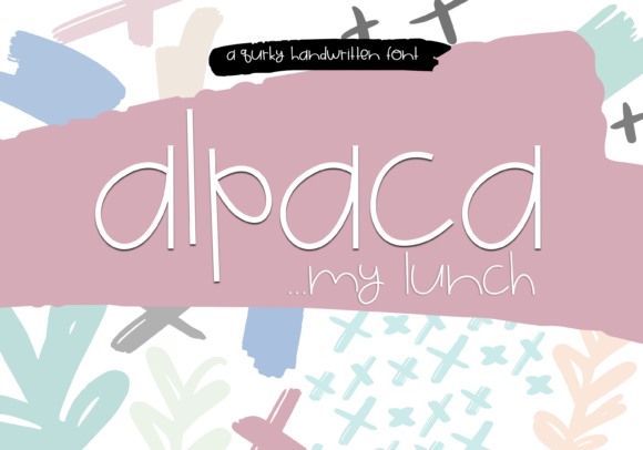 Print on Demand: Alpaca Display Font By KA Designs