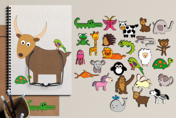 Print on Demand: Alphabet Animals Graphic Illustrations By Revidevi