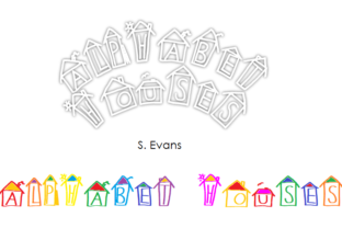 Alphabet Houses Font By Shelley