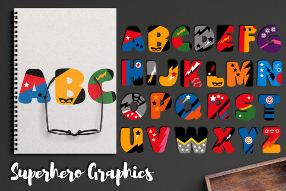 Print on Demand: Alphabet Superhero Graphic Illustrations By Revidevi