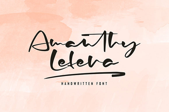 Print on Demand: Amanthy Lefera Script & Handwritten Font By missinklab