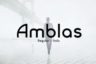Amblas Font By da_only_aan
