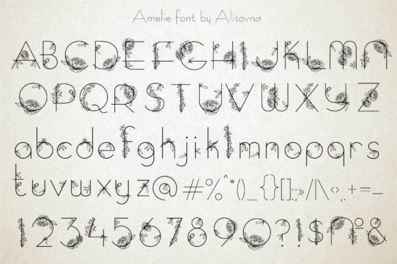 Print on Demand: Amelie Display Font By Alisovna - Image 4