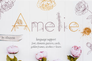 Amelie Display Font By Alisovna