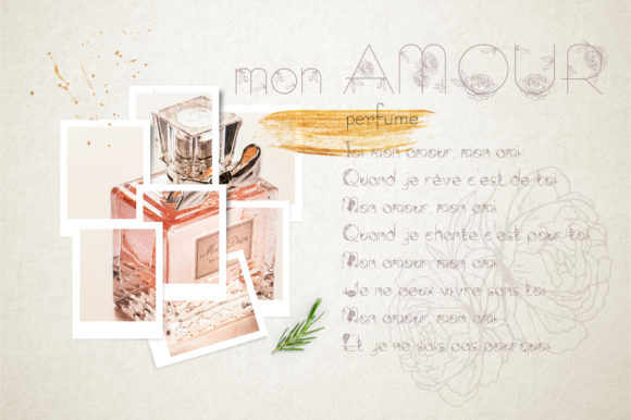 Print on Demand: Amelie Display Font By Alisovna - Image 5